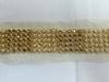 Тесьма металлизированная с бусинами 27291-41(золото) Цена за 9 метров