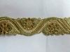 Тесьма металлизированная с бусинами 16PL37-41(золото) Цена за 9 метров