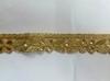 Тесьма металлизированная с бусинами 16PL31-41(золото) Цена за 9 метров
