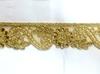 Тесьма металлизированная с бусинами 16PL30-41 (золото) Цена за 9 метров