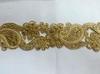 Тесьма металлизированная с бусинами 10RL19-41(золото) Цена за 4,5 метров