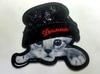 Аппликации кот в шапке AK488m-3 (черный)