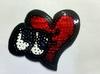 Аппликации сердце AK496-4 (красный)