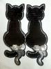 Аппликации кошки AKR400-3 (черный)