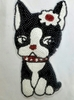 Аппликации собака AK487-1 (белый с черным)