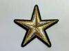 Аппликации звезды AK375-42-41 (серебро и золото)