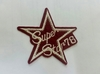 Аппликации звезда SUPER STAR AK423-39 (бордо)