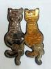 Аппликации кошки AK504-41-42 (золото серебро)