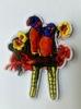 Аппликации попугаи AK405-7 (оранжевый)