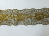 Кружево на сетке  WX164-41-3 (золото)
