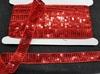 Тесьма  с пайетками TPA-4 (красный) Цена за 10 ярд