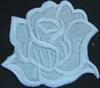 Аппликации цветок 2035-1 (белый) Цена за 2шт.
