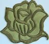Аппликации цветок 2035-27 (коричневый) Цена за 2 шт.