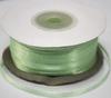 Лента атласная AL03-20 (бледно зеленый) Цена за 100 ярд.(91,4 м)