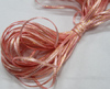Лента атласная с люрексом ALL03-34-41 (розовая с золотом)