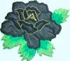 Аппликации цветок AP06-3 (черный) Цена за 2шт.