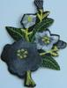 Аппликация цветок AP07-52-1 (серый) Цена за уп.10шт
