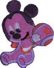 Аппликация Микки AP85-47 (фиолетовая) Цена за 5шт.