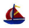 Аппликации корабль AP045-11 (синий) Цена за 100 шт