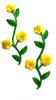 Аппликации цветы AK21-9 (желтый) Цена за 2 шт