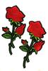 Аппликации цветы AK3-16/7,5-4 (красный) Цена за 2 шт