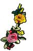 Аппликации цветы AK18-7 (желтый) Цена за 2 шт