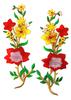 Аппликации цветы AK20139-24/8,5-4 (красный) Цена за 2 шт