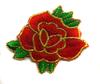 Аппликации цветы 2223-4 (красный) Цена за 20 шт