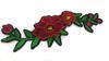 Аппликации цветы AK339-4 (красный) Цена за 2 шт