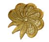 Аппликации цветок AP111-80 (зеленое золото) Цена за 10 шт