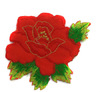 Аппликации цветы 2117-4 (красный) Цена за 20 шт