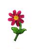 Аппликации цветок AP040-37 (темно розовый) Цена за 10 шт