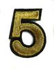 Аппликации цифра AK151-41 (золото) Цена за 8 шт