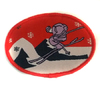 Аппликации лыжник AP129-4 (красный) Цена за 10 шт