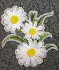 Аппликации цветы AK170-1 (белый) Цена за 1 шт