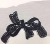 Аппликации цветы APP14-3 (черный) Цена за 10 шт