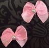 Бантики атлас BKAG2-34 (розовый) Цена за 1000 шт
