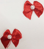 Бантики атлас BKAG2-4 (красный) Цена за 1000 шт