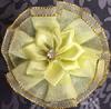 Цветы пришивные КЦ316-8 (светло желтый) Цена за 10 шт