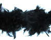 Боа из перьев курицы BOA80g-3 (черный) Цена за 1.8 метра