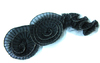 Пришивные элементы из ткани Jabo25-3 (черный) Цена за 2 шт