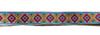 Тесьма жаккардовая 15002-11 (синий) Цена за 10 метров
