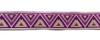 Тесьма жаккардовая 25001-43 (фиолетовый) Цена за 10 метров