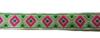 Тесьма жаккардовая 25002-18 (зеленый) Цена за 10 метров