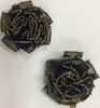 Цветы пришивные капрон КЦ009-3 (черный) Цена за 10 шт