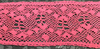 Кружево лен 621-3041-142 (ярко розовый) Цена за 13,7 метров