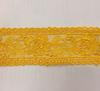 Кружево на сетке 2943-10 (темно желтый) Цена за 6,4 метров
