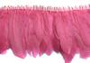 Перо курицы на ленте PPZL15-34 (розовый) Цена за 2 метра