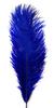 Перо страуса PRK25-30-11 (синий) Цена за 5 шт