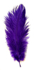 Перо страуса PRK25-30-49 (темно сиреневый) Цена за 5 шт